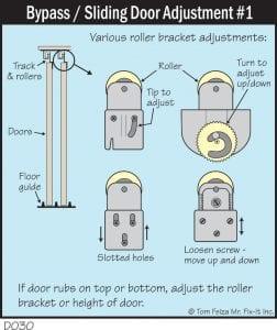 Bypass Sliding Door Adjustment Mirowski Inspections Home Repair Quick Tip
